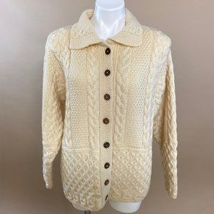 Vintage Sweaters of Ireland 100% Wool Cardigan S